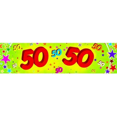 Striscione compleanno 50 anni
