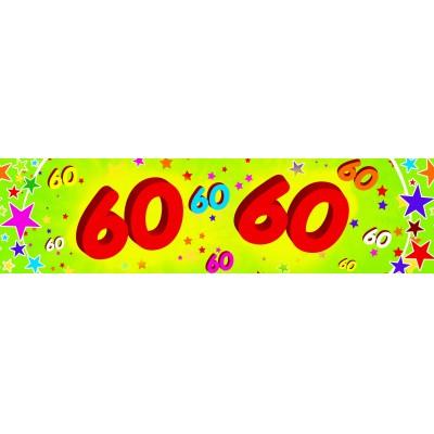 Striscione compleanno 60 anni