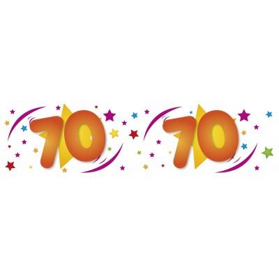 Striscione compleanno 70 anni bianco