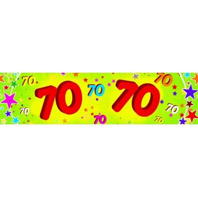 Striscione compleanno 70 anni