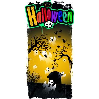 Striscione con fantasmi di Halloween 25x50cm