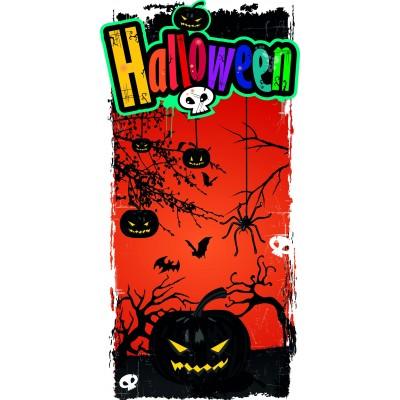 Striscione con zucche di Halloween 25x50cm