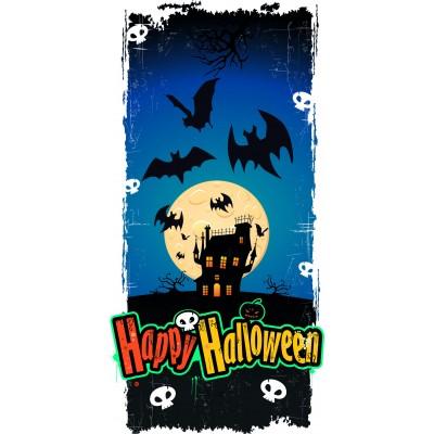 Striscione di Halloween castello infestato 25x50cm