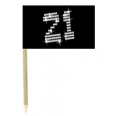 Stuzzicadenti bandierine 21 vip