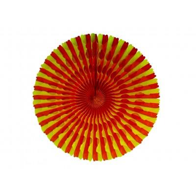 Ventaglio a nido d ape rosso e giallo