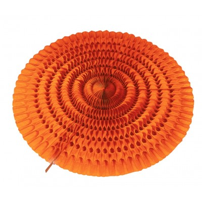 Ventaglio arancione a nido d'ape 50 cm