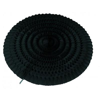 Ventaglio nero a nido d'ape 50 cm